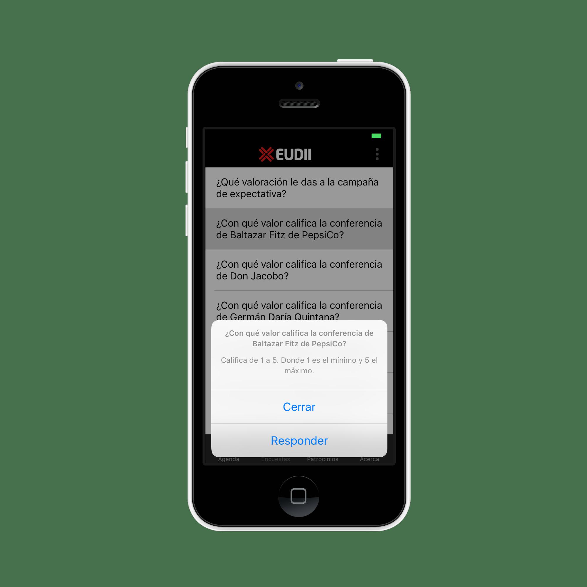 Encuestas en app
