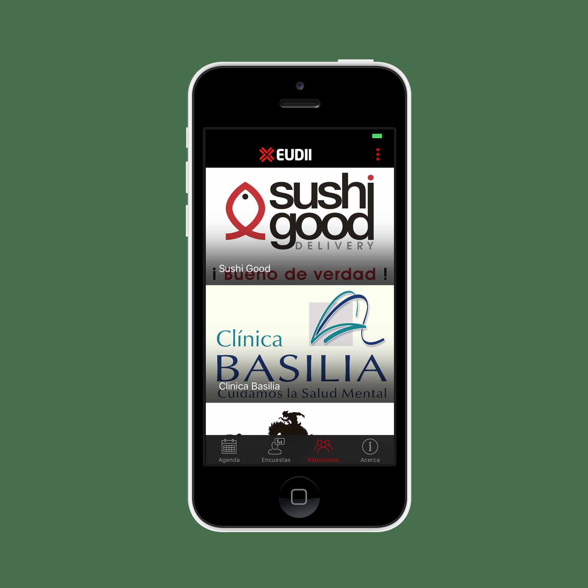 Patrocinadores en app